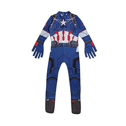 BLL Milchseide Cosplay, Avengers 3 Thor/Captain America Halloween Kinder Zeigen Kostüme CaptainAmerica-Code130 (America Halloween Weiblich Captain Kostüm)
