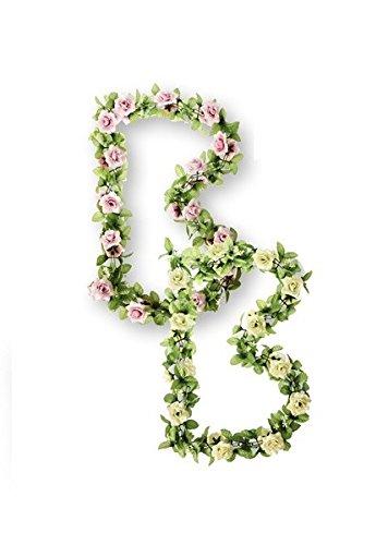 Basil Flower Garland - Guirnalda de flores con las rosas rosadas