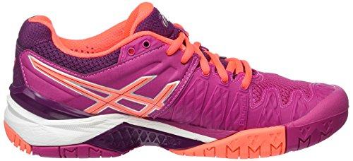 Asics Gel-Resolution 6 W, Chaussures de Tennis Femme Multicolore (Berry/Flash Coral/Plum)