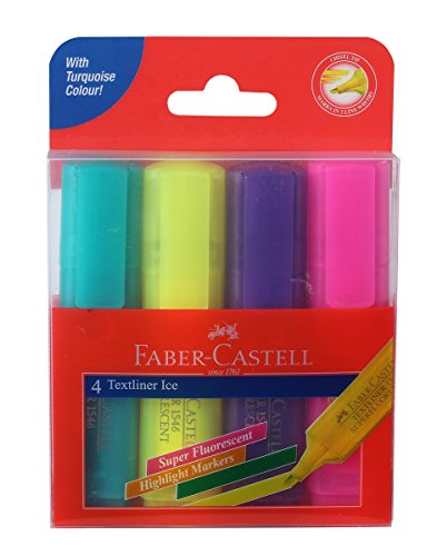 Faber-Castell Ice Textliner Wallet - Pack of 4 (Assorted)