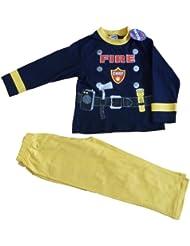 Cool Feuerwehrmann Feuer Chief Pyjama lang, 2, 3, 4, 5 Jahre sam