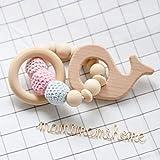 Mamimami Home Baby Zettel Zahnen Spielzeug Baby Armband Baby Zettel Spielwaren Holz Beißring Rassel Wadorlf Spielzeug