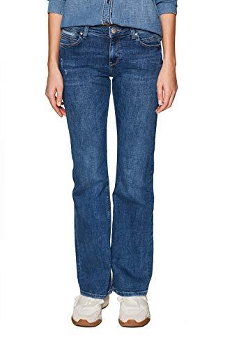 ESPRIT Damen 029EE1B005 Bootcut Jeans, Blau (Blue MEDIUM WASH 902), W26/L32 (Herstellergröße:26/32) Blue Wash Bootcut Jeans