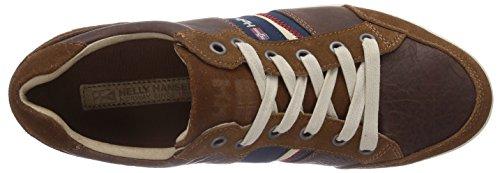 Helly Hansen KORDEL LEATHER, Low-Top Sneaker uomo Marrone (474 Cornstalk / Evening Blue )