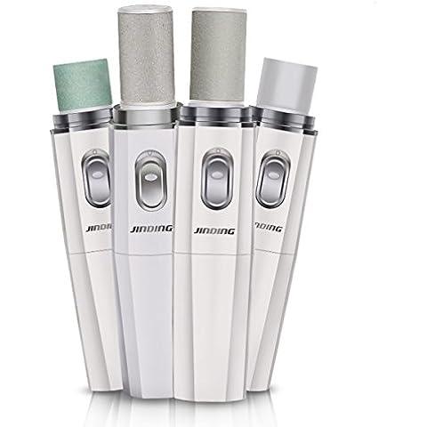 WINLINK Pedicura eléctrica Removedor de callos del pie Profesional lima de uñas & buffer de uñas & Pulidor de Uñas Inicio Manicura Herramientas Set Batería cargada - Blanco