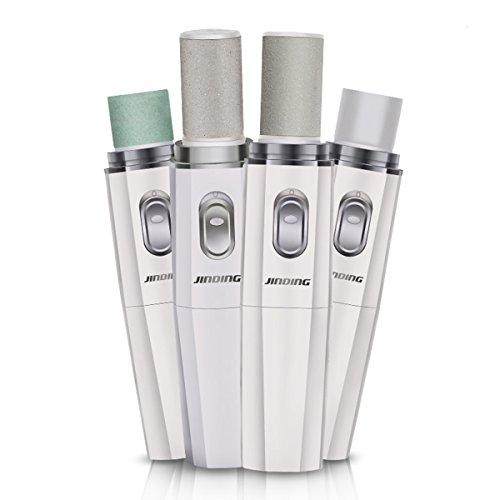WINLINK elettrico callo del piede di rimozione professionale lime per unghie & buffer per unghie & lucidatore del chiodo Inizio Manicure Pedicure Strumenti set di batterie alimentato - Bianca