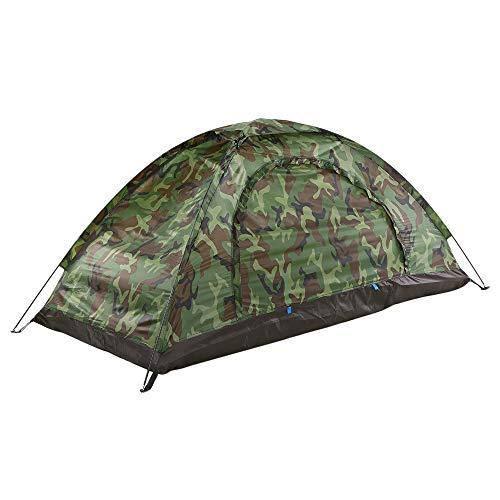 explopur tenda da campeggio per 1 persona | singolo strato - cool camouflage - per travel beach - impermeabile portatile - facile da impostare istantaneamente