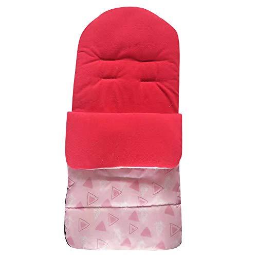 LOVELYOU Repose-Pieds Universel pour Chancelière Universelle pour Poussette Confortable, Couverture Enveloppante Hiver pour Landaus Poussettes ou Lits Bébé (0-3 Ans bébé, Rouge)