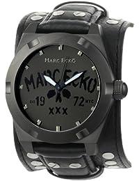 Marc Ecko Men's E12513G1 The Rock Black Leather Cuff Watch
