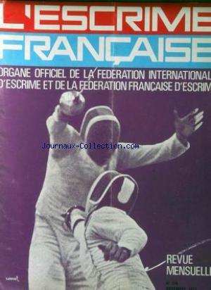 ESCRIME FRANCAISE (L') [No 278] du 01/11/1973 - par Collectif