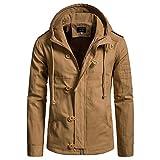 Mantel Herren,❤️Binggong Herren Herbst Winter Cap Baumwolle Jacke Männer Modetrend Mantel