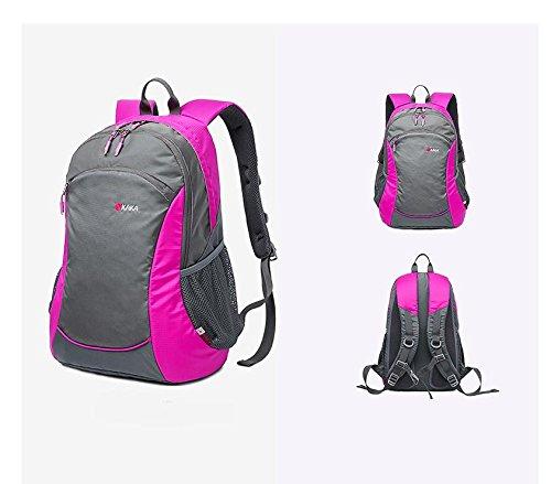 YYY-Un nuovo giorno zaino da trekking borsa viaggio durevole alpinismo escursioni in bicicletta 32 * 20 * 50 cm , blue camouflage rose red