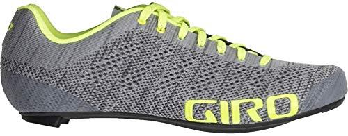 Giro Herren Empire E70 Knit Road Radsportschuhe - Rennrad, Mehrfarbig (Grey Heather/Highlight 000), 43 EU -