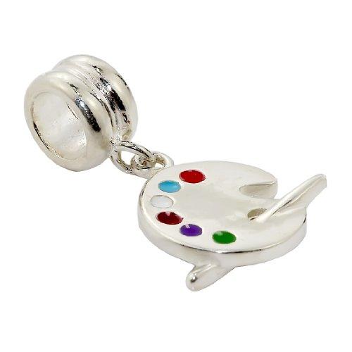 beads-hunter-plata-de-ley-925-colgante-de-paleta-de-pintor-de-ajuste-pulsera-de-cadena-de-serpiente-