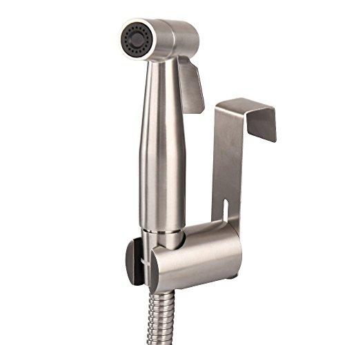 MUMENG Toilette Bad Bidet Rostfrei Edelstahl Duschkopf/Bidet Handbrause, Shattaf Bidet Douche Spray Set SUS304- Helles Silber