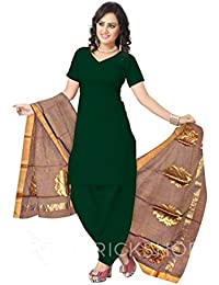 Red Brick Shop Women's Chanderi Handcrafted Floral Border Designer 2.4 M Brown Silk Cotton Duppatta MPV0035DP1017BOS17
