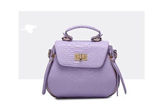Nuove borse, coccodrillo modello spalla coreano, sacchetto del messaggero, la signora borsa guscio portatile purple