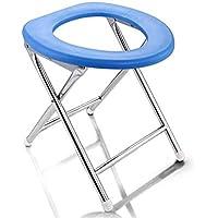 Moontang Sentada cómoda Plegable Antideslizante Abanico geriátrico Ancianos Embarazadas Simple Regalo de Acero Inoxidable (Color