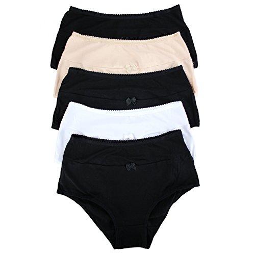 slip Baumwolle 5er Set, Farbe: Farbenmix, Größe: M (Frauen Unterwäsche Bikini-pack)