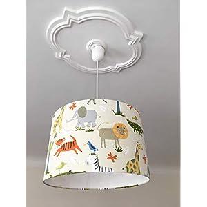 Lampenschirm Kinderzimmer Tiere, Deko Kinderzimmer, Kinderlampe, Kinderzimmerlampe