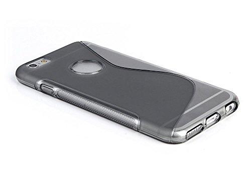 Gris S Line Wave Coque arrière en gel TPU souple pour Apple iPhone coque 6S