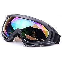 QMFIVE Airsoft X400 A prueba de viento A prueba de polvo Protección Táctica Gafas Gafas de motocicleta Lente transparente para la Ciclismo esquí Tactical al aire libre(Multi Color)