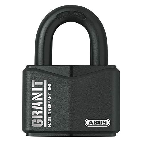 ABUS Vorhangschloss Granit 37RK/70 SZP Premium-Schloss für höchste Beanspruchungen - erhöhter Bügelschutz - Sicherheitslevel 10 - inkl. 2 Schlüssel und Sicherungskarte - schwarz - 79161