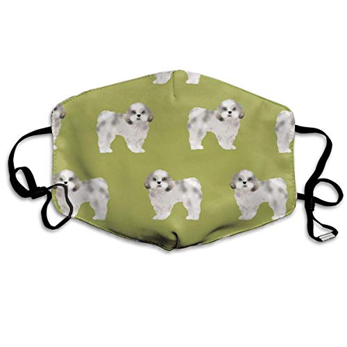 Dog Cute Bilder Kostüm - Daawqee Staubschutzmasken, Shih Tzu Fabric Lime Cute Dog Fabric Toy Face Masks Breathable Dust Filter Masks Mouth Cover Masks with Elastic Ear Loop