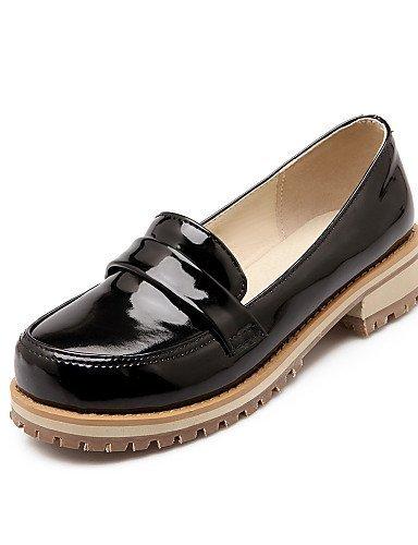 Chaussures Femmes Shangyi - Mocassins - Bureau Et Travail / Formel / Décontracté - Confortable / Bout Arrondi / Fermé - Carré - Cuir Verni - Noir / Vert / Violet