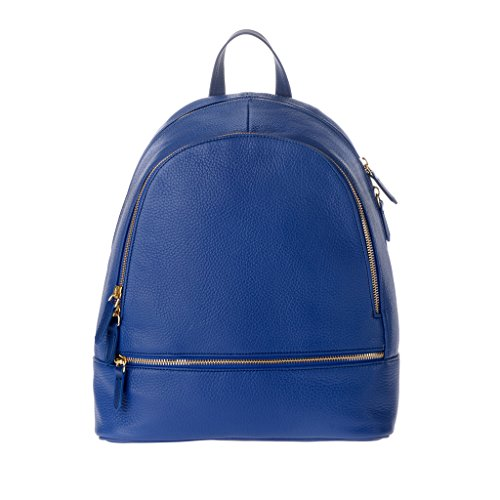 Zaino donna pelle stile elegante università tempo libero made in Italy DUDU Blu submarine