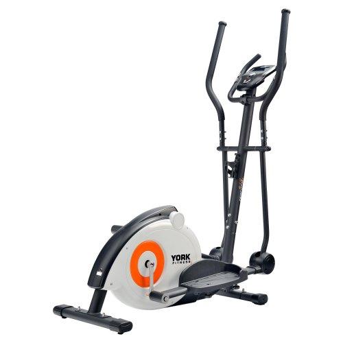 York Fitness Perform 210 Cross Trainer - White/Black/Orange