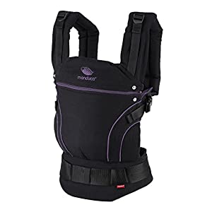 manduca First Baby Carrier > Blackline MidnightPurple < Adjustable & Comfortable Baby Carrier from Newborn to Toddler (3.5 up to 20 kg), 3-Position (Front, Hip & Back), Made in Europe, Black/Purple   1