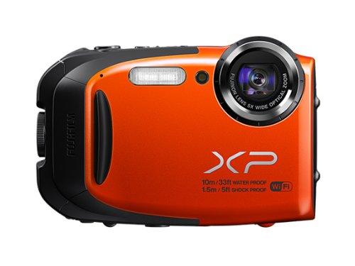 Fujifilm FinePix XP70 Kompaktkamera (Full HD, 16 Megapixel, 6,9 cm (2,7 Zoll) Display, 5-fach opt. Zoom, WiFi, wasserdicht (10m), stoßfest (1,5m), staubgeschützt) orange Zoom-fuji Finepix