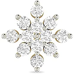 Aucent by PC Jeweller The Kena 18k 2 Colour Gold and Diamond Nose Pin