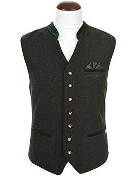 Michaelax-Fashion-Trade Spieth & Wensky - Herren Trachtenweste Loden/Minipaisley/Samt Achim (240540-0744)