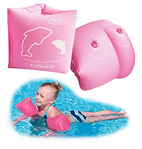 Lemandii Kinder Schwimmflügel Kaulquappen Schwimmhilfe Assisted Schwimmen 3-10 Jahre (Rosa)