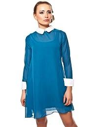 Chiffon Minikleid mit Mangetten im School Girl Look