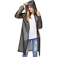 UniqueBella Transparent Raincoat, Clear Reusable Rain Coat Rainwear Emergency Poncho With Hood and Sleeves for Unisex Adults