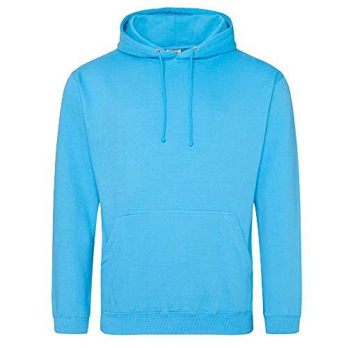 Just Hoods - Unisex College Hoodie/Hawaiian Blue, 3XL - Womens Hawaiian-t-shirt