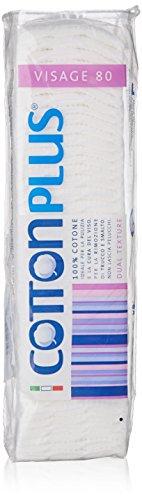 Cotton Plus – Carrés desmaquilladores – 100% coton – 80 unités