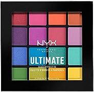 NYX Professionell makeup ultimat skuggpalett, palett, palett, 16 färgtoner, skimrande och metall, individuell