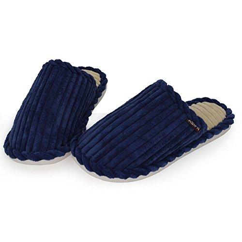 Donne Uomini Peluche Il Blu Pantofole Leggero Aveva Dintérieur Scarpe inverno Velluto Più Da Formato Casa Maesty qwIXSPq
