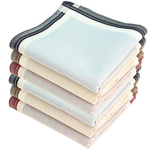 Royal Quality Stofftaschentücher 6 Stück ca.40x40cm reine Baumwolle Herrentaschentücher James