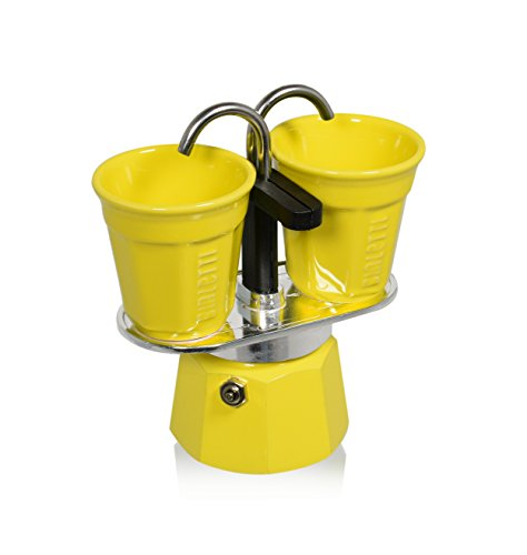 Bialetti 0006193Set Mini Express 2tazas + 2Bicchierini amarillo aluminio 22x 8x 21,5cm