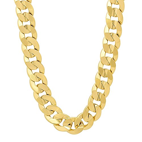 9mm-14k-gold-plated-concave-cuban-link-curb-chain-necklace-50-cm