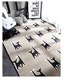 YDANH Tappeti con Motivo a Gatto Nero per Salotto Tavolini da Salotto Tappeto per Bambini Tappeto Antiscivolo Tappeto da Gioco Pieghevole per Bambini