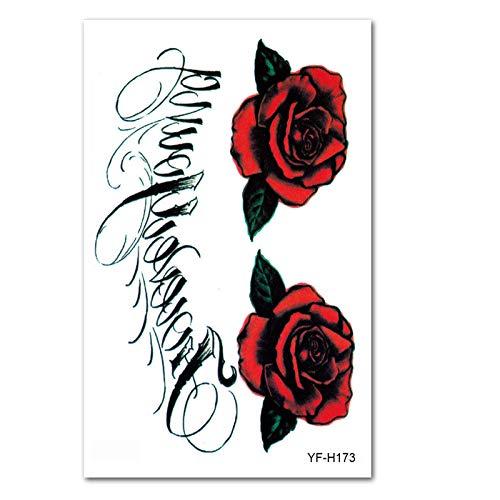 Blume Arm Tattoo Aufkleber wasserdicht Tattoo Farbe Persönlichkeit langlebig realistische Halbarm Totem Tattoo Wassertransfer Aufkleber sicher ungiftig leicht zu reinigen @ YF-H173