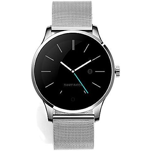 RG Bluetooth intelligente bracciale striscia orologio sportivo in acciaio per