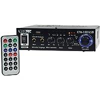 100 watt stereo amplifier compact MP3 RCA Stereo SD Slot Remote Control CTA-100 USB