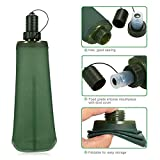 Pawaca 500ML Collapsible Water Bottle, Soft Flask TPU Travel Water Bottle Light Weight